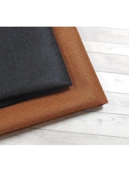 Корейский фетр,мягкий,цв-коричневый.33*26см