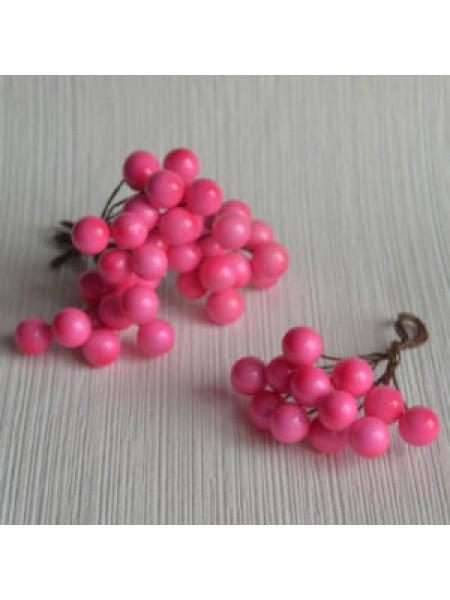 Ягодки глянцевые, розовые, цена за 20шт