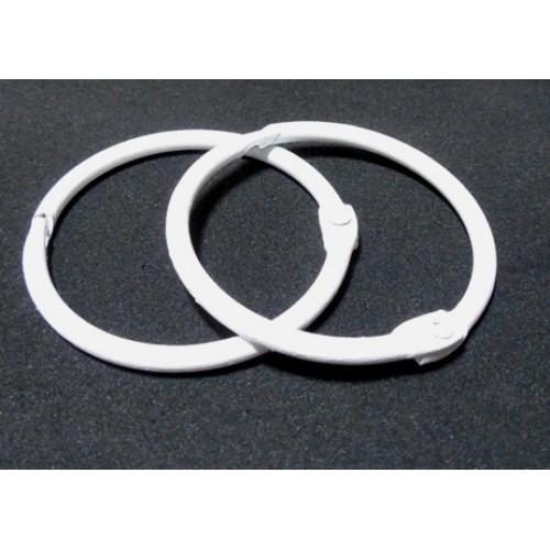 Кольца для альбомов, 2 шт,белые,30мм