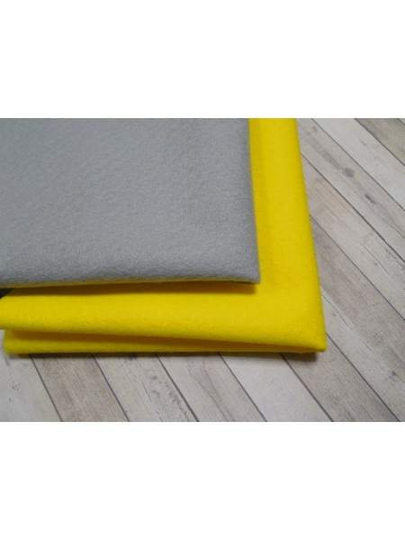 Корейский фетр,мягкий,цв-жёлтый.33*26см