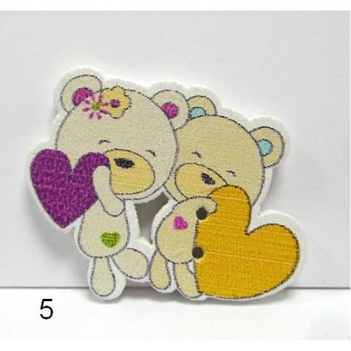 "Пуговицы ""Медвежата""№5,цена за 1 шт"