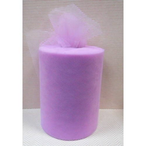 Лента фатиновая, 15 см цв-№-9-фиолетовый светлый,цена за 1 метр