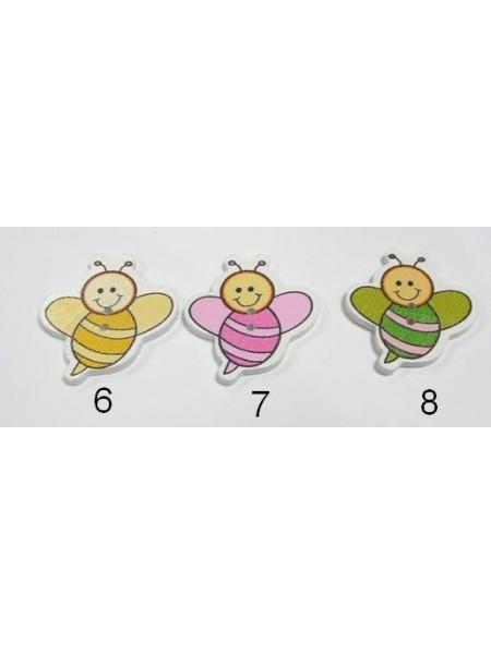 """Пуговицы """"Пчёлка большая""""-№ 6,цена за 1 шт"""