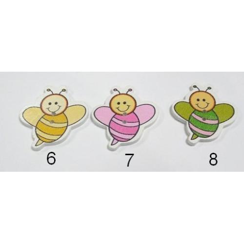 """Пуговицы """"Пчёлка большая""""-№ 8,цена за 1 шт"""