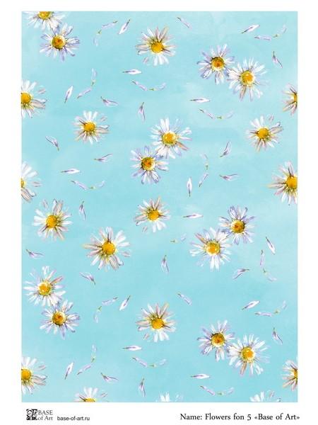 Рисовая декупажная карта,Flowers fon-5-base-of-art