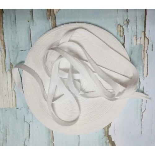 Лента хлопковая( киперная цв-белый ),10мм,цена за 1 метр