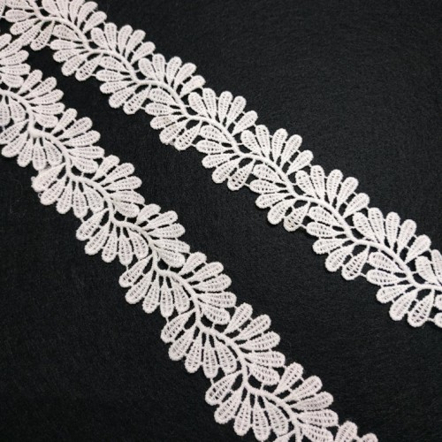 Кружево,цв-белый,35 мм,цена за 1 метр