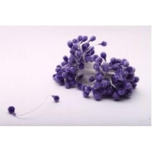 Тычинки круглые,сахарные.цв-фиолетовый.цена за уп