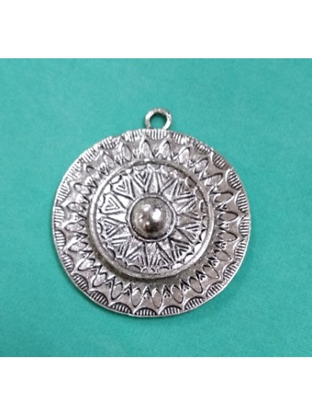 Подвеска Круг,цвет серебро,43мм