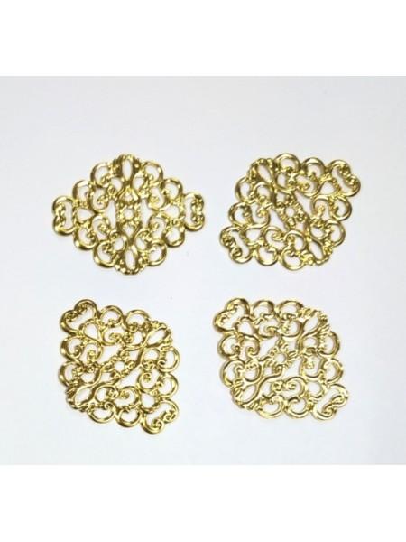 Декоративный элемент,филигрань,цв-золото.цена за 1 шт