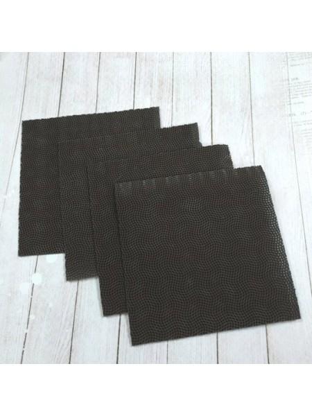 Резина для подошвы,12*12см. цв-тёмно-коричневый. цена за 1 шт