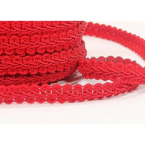 Тесьма Булет. красная. шир 13 мм,цена за 1 м