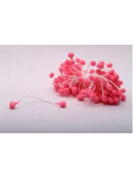 Тычинки круглые,сахарные.цв розовый,цена за уп