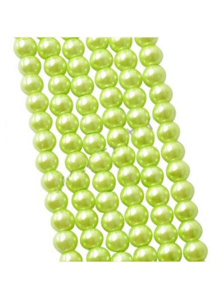 Бусины стекло, под жемчуг,цв-салатовый,10мм,цена за 1 шт