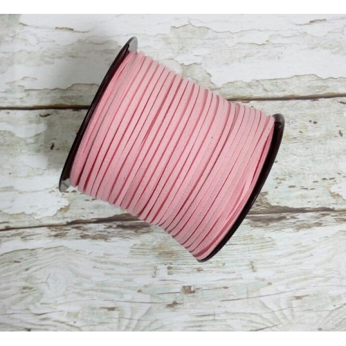 Шнур из замши для украшений, розовый Цена-за 1 м