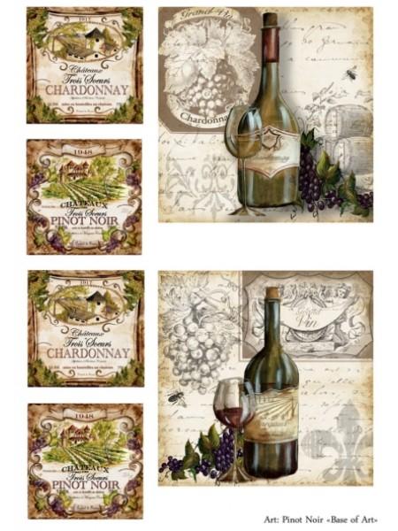Рисовая декупажная карта,Pinot Noir-base-of-art