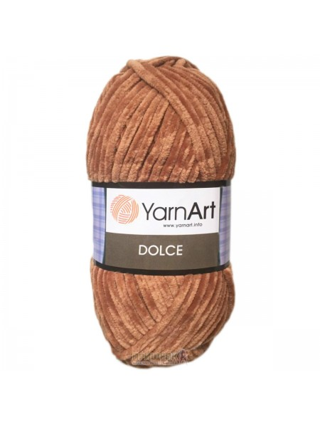 Плюшевая пряжа Dolce YarnArt,№765 ,цв-св-коричневый,100гр