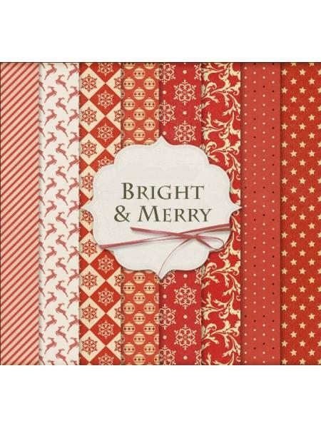 Набор новогодней бумаги 29,5*30 см,16 листов, ВКН-8б