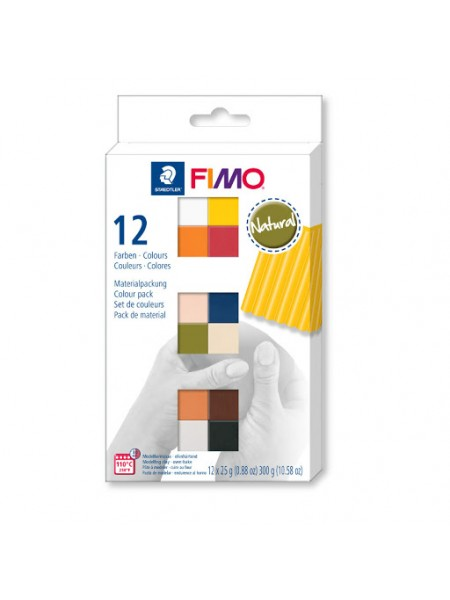 Набор полимерной глины FIMO SOFT natural colours 12*25гр