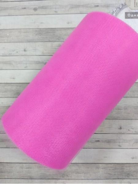 Лента фатиновая, 15 см цв-№-47-ярко-розовый,цена за 1 метр