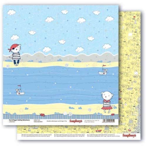 Бумага двусторонняя, Морские приключения-Морские котики -30,5*30,5см
