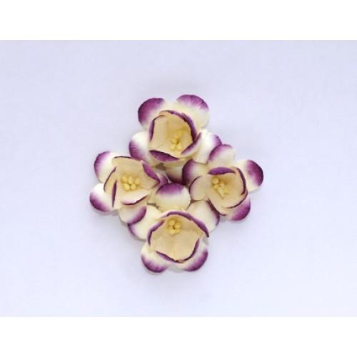 Цветы сакуры,бело-фиолетовые, набор из 4х штук