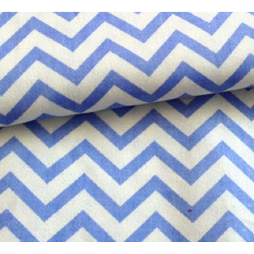 Мерный лоскут(хлопок)-Зиг-заг голубой,50*50 см.цена за отрез