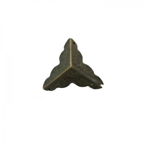 Уголки для шкатулок 25*25*25 мм, 4шт бронза