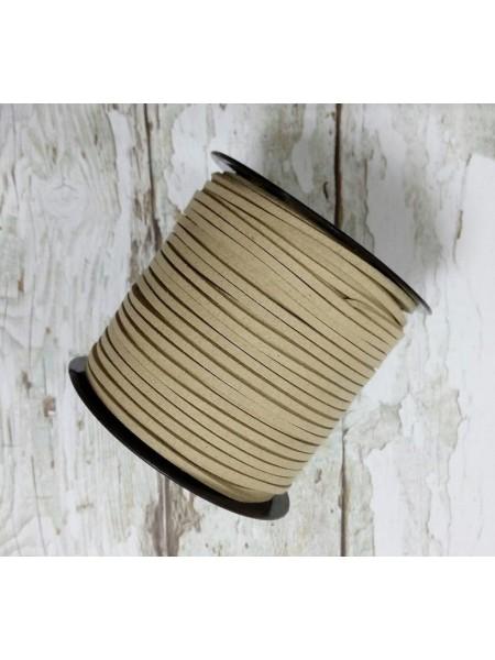 Шнур из замши для украшений,светло-бежевый Цена-за 1 м