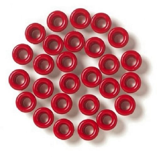 Люверсы красные. 4,5 мм,без колечек,25шт в уп