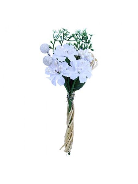 Декоративный букетик, белый, 15*7см