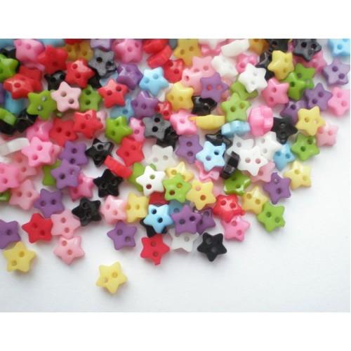 Пуговицы мини-звездочка-6мм,цвет фиолетовый. Цена за 1 шт