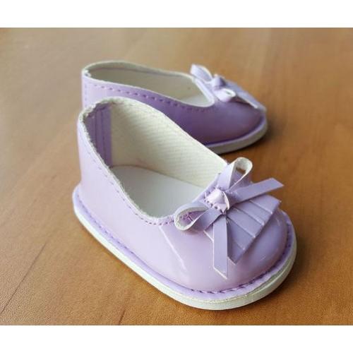 Туфельки сиреневые лаковые