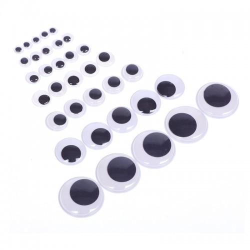 Глаза круглые с бегающими зрачками ,30 мм, цена за пару