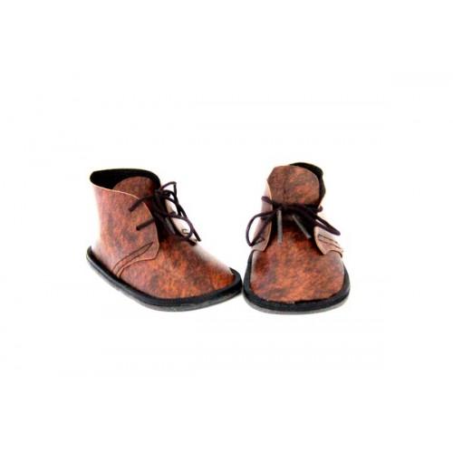 Ботиночки для куклы,коричневые,8см