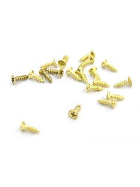 Декоративный шуруп (мини) для шкатулок 2,0*6мм,уп.6 гр-50шт ,золото
