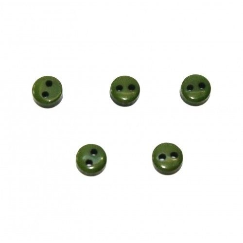 Пуговицы мини-6мм,цвет тёмно-зелёный. Цена за 1 шт