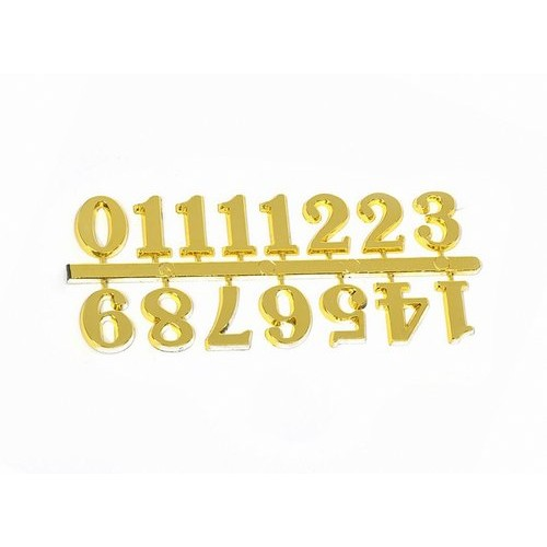 Цифры арабские 25мм (большие), пластик, цв. золото