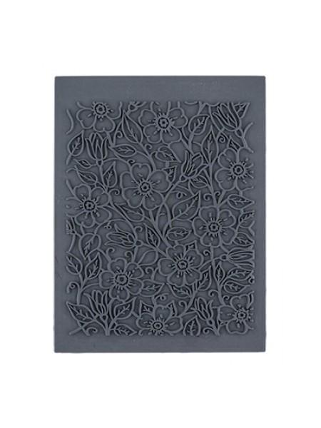 Резиновый текстурный штамп- Цветы