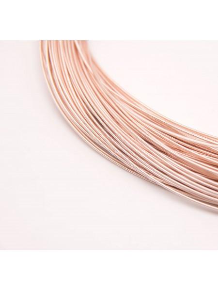 Канитель жёсткая , розовое золото,1,25 мм,цена за 5 гр