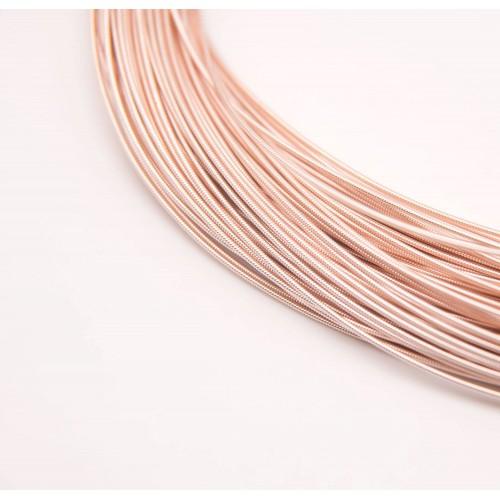 Канитель жёсткая , розовое золото,1,2 мм,цена за 5 гр