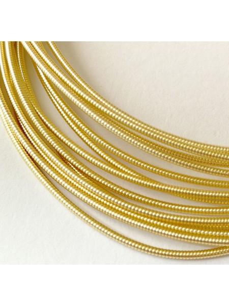 Канитель жёсткая ,светлое золото,1,2 мм-6-10гр,цена за 5 гр,№114