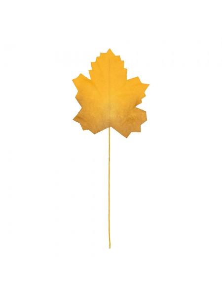 """Декоративные элементы  """"Кленовые листья"""",цв-жёлтый,уп--12 шт"""