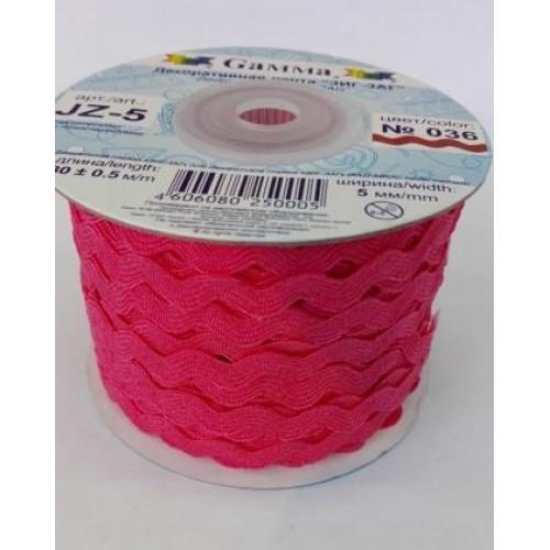 """Лента декоративная """"зиг-заг""""цв-тёмно-розовый,5мм-цена за 1 метр"""