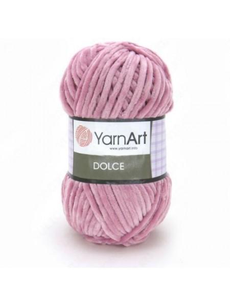 Плюшевая пряжа Dolce YarnArt ,№769,цв-пыльная роза,100гр