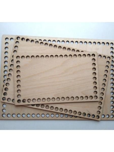 Деревянное донышко для корзины,прямоугольное, 20*30 см