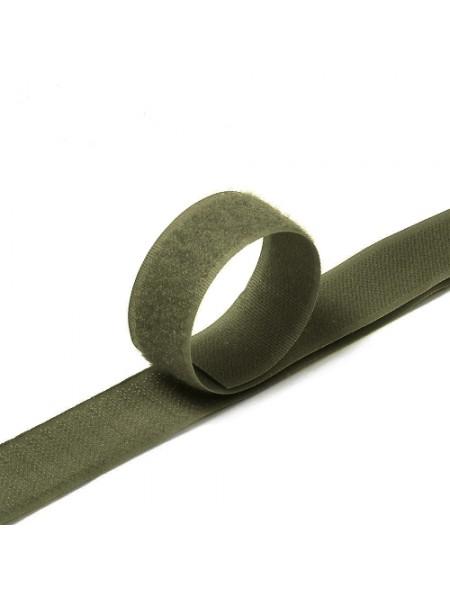 Лента-липучка,хаки,20мм. цена 50 см