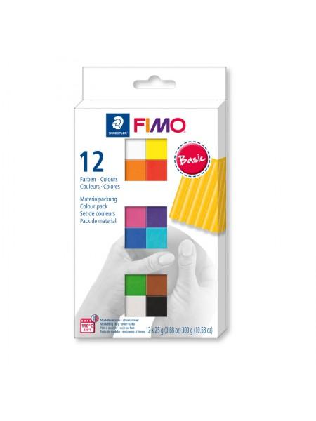 Набор полимерной глины FIMO SOFT basic colours 12*25гр