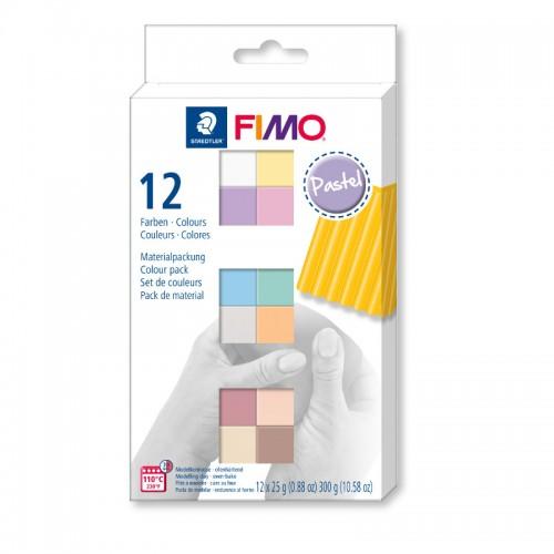 Набор полимерной глины FIMO SOFT pastel colours 12*25гр