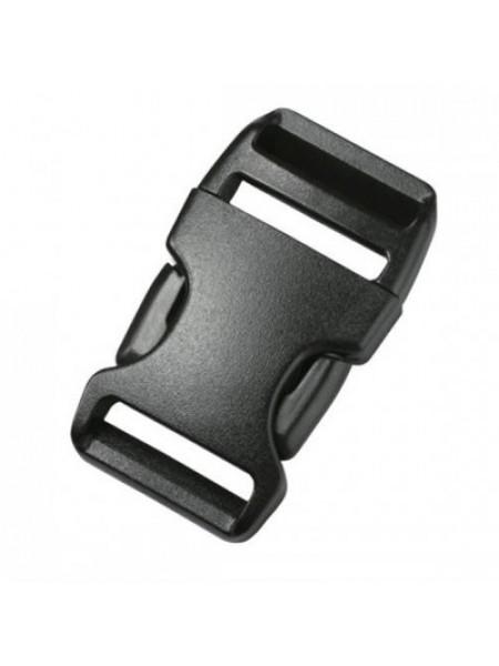 Пряжка-замок (фастекс) -25 мм, цв черный,цена за 1 шт